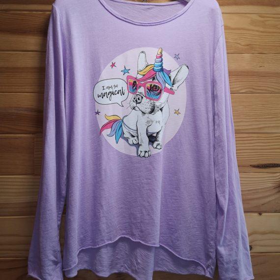 Camiseta perro unicornio